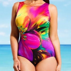 Longitude Swimsuits for All Pink Fiesta 1 piece 16